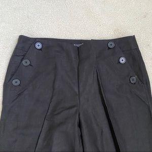 Sandro black buttons decor wide leg pants 12P